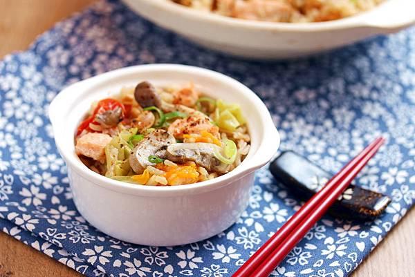 味噌鮭魚番茄燉飯1