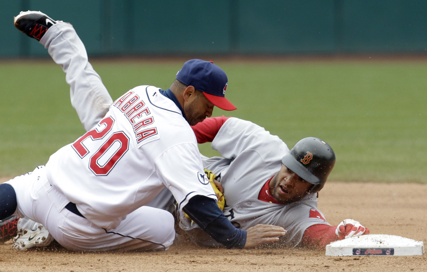 Darnell McDonalda Red Sox VS Indians 4-8-2011
