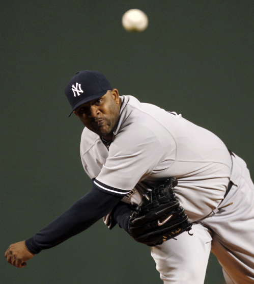 CC Sabathia Yankees VS Red Sox 4-11-2011