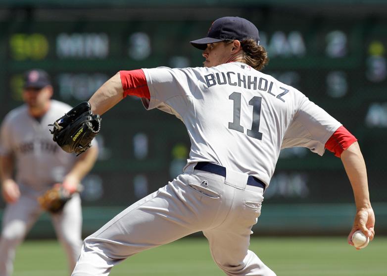 Red Sox VS Rangers 4-4-2011 Clay Buchholz