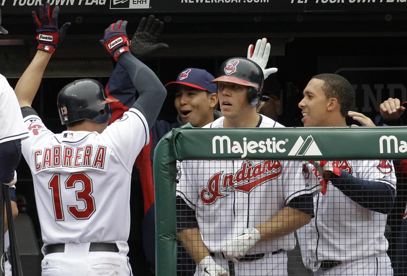 Orlando Cabrera Red Sox VS Indians 4-8-2011