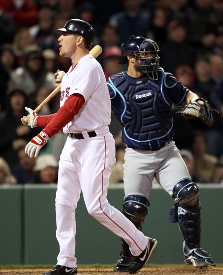 J.D. Drew九局下半帶打 愛揮不揮的被三振 Rays VS Red Sox 4-13-2011