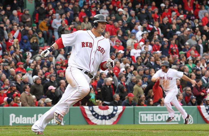 Jarrod Saltalamacchia、Kevin Youkilis Yankees VS Red Sox 4-9-2011