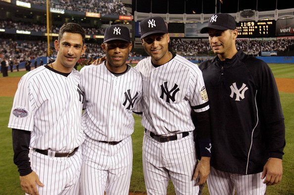 Jorge Posada、Derek Jeter、Andy Pettitte、Mariano Rivera.jpg