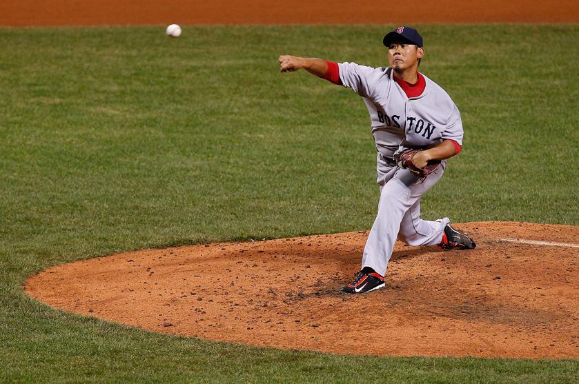 松坂大輔 Red Sox VS Indians 4-7-2011
