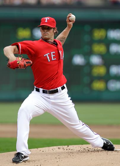 4-2-2011 Red Sox VS Rangers C.J. Wilson
