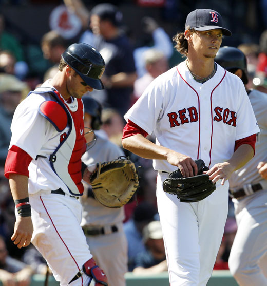 Clay Buchholz Yankees VS Red Sox 4-10-2011