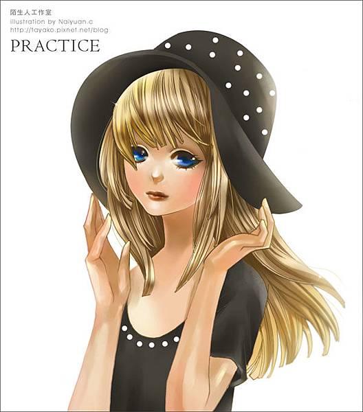 練習...少女漫畫風格...