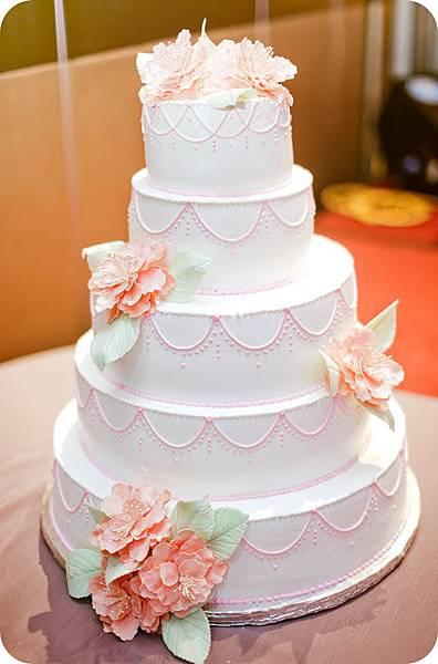 訂作的Wedding Cake (*〞︶〝)ˊ*