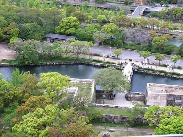 乾淨美麗的像模型的大阪城公園