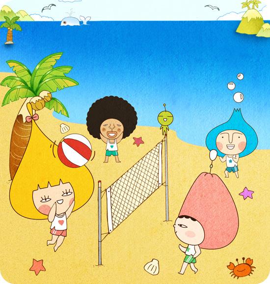 7月 沙灘排球樂