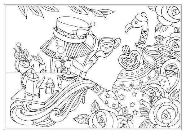 Alice in Wonderland  著色畫
