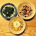 清炒地瓜葉、泰式咖哩飯、宮保雞