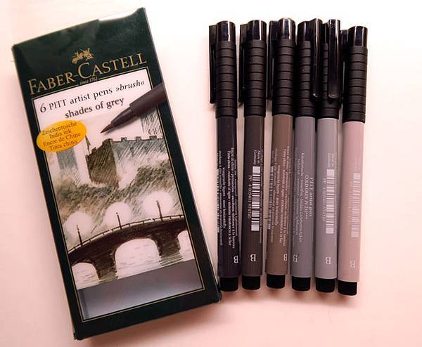 FABER CASTELL一組六支的速寫筆