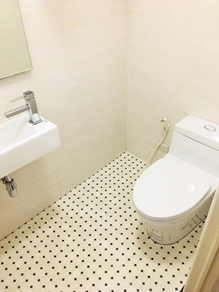 蠻滿意自己改造的廁所。
