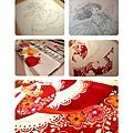 手繪針筆及水彩繪製過程