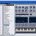 6. 選擇VST Instrument 的 Program(音色設定)