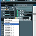 8. 設定MIDI channel 的 INPUT