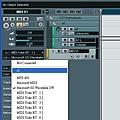 9. 設定MIDI channel 的 OUTPUT