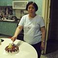 媽媽切蛋糕~辛苦了