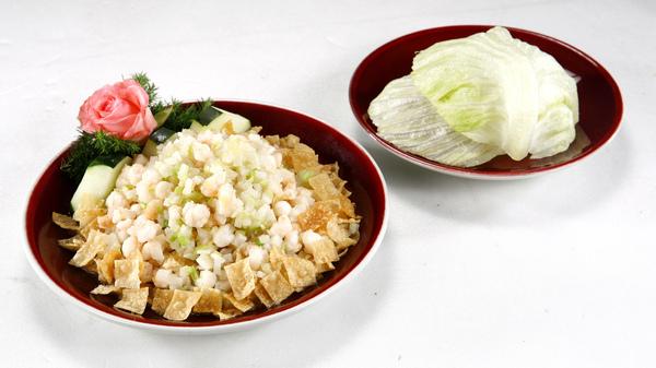 上海新樂園-生菜河蝦鬆.JPG