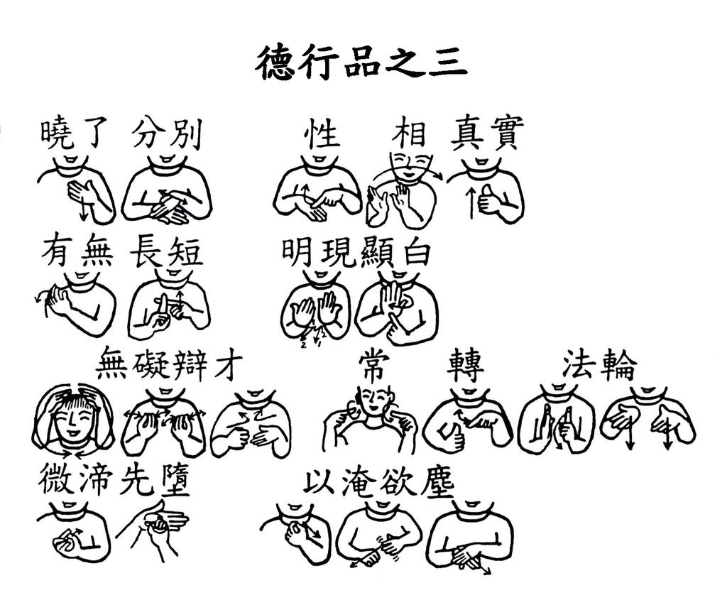 05 手語印記提示圖-無量義經偈頌-德行品之三