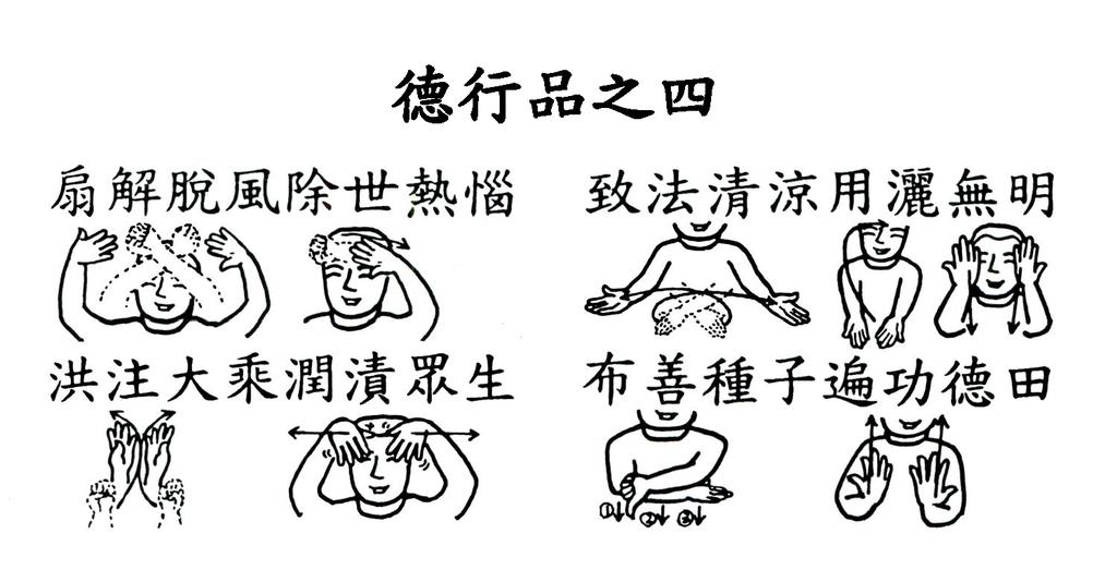 06手語妙音提示圖-無量義經偈頌-德行品之四