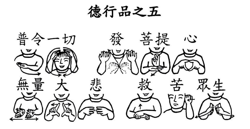 07手語印記提示圖-無量義經偈頌-德行品之五