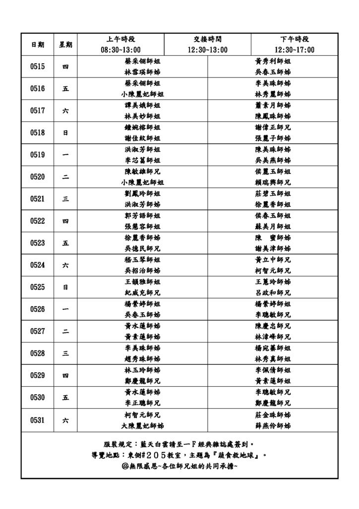慈濟48週年三民十全和氣布展導覽人員輪值表(0505)_頁面_2.png