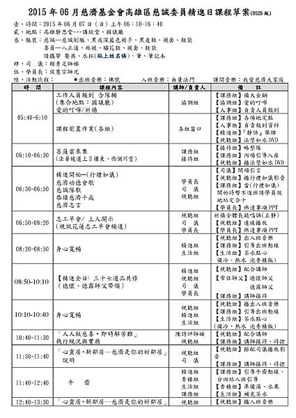2015 年 06 月慈濟基金會高雄區慈誠委員精進日課程草案(0526 版)_頁面_1.png