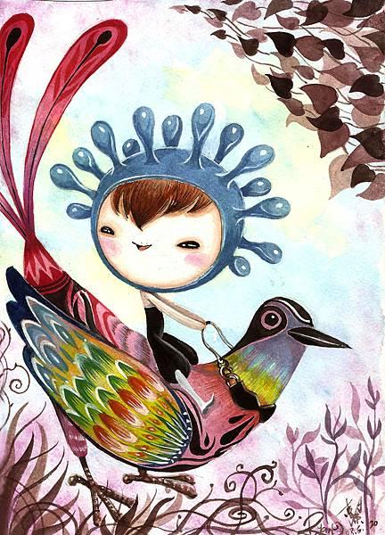 安心步子與彩色鳥