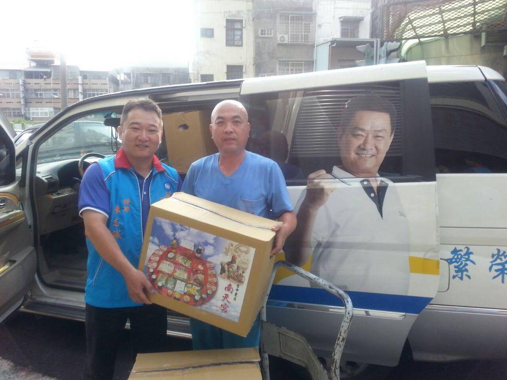 南天宮、蔡錦隆捐贈愛心物資