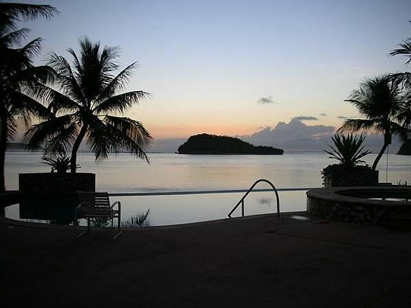 聖塔菲飯店的海景