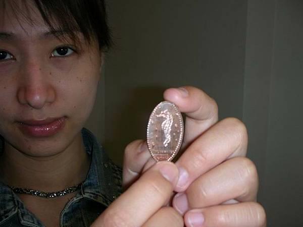 變成了海馬紀念幣