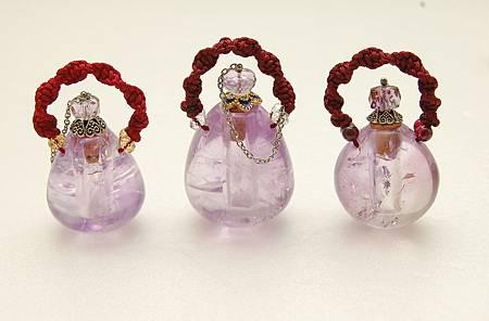 紫水晶瓶三件