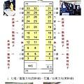 莒光號商務車BCK10600型座位配置圖