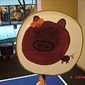 姨姨畫的紫色小豬~不過回房之後被寧小姐不斷摧殘