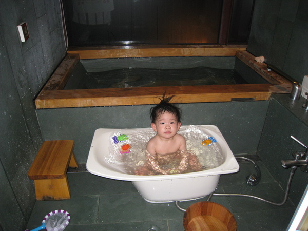 飯店準備的小澡盆
