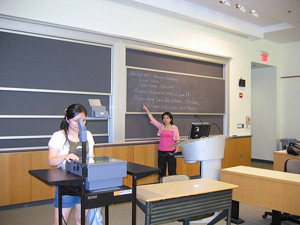 wharton裡面的一間教室