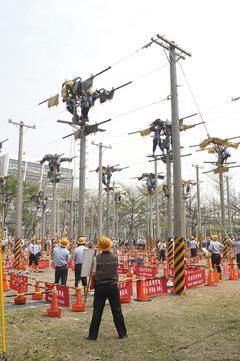 台電測技能 登高爬桿
