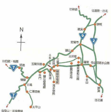 台電教師研習營蘭陽電廠旅遊介紹~蘭陽路線圖