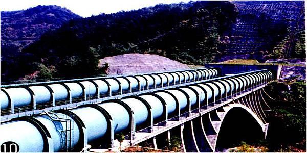 明潭水庫過河段鋼管
