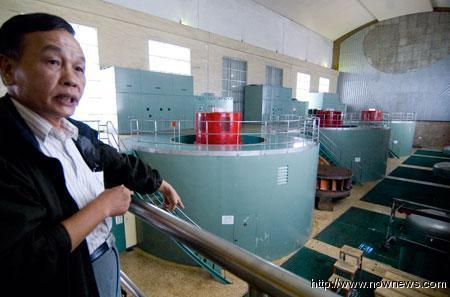德基電廠發電機七二水災時曾遭受嚴重水患,暑假暑期寒假教師研習德基水庫德基電廠