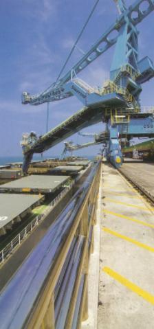 台電月刊興達電廠海外海卸煤碼頭,卸煤機~綠色發電廠