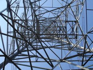 台電寒暑假教師研習,電塔中心由下往上拍的