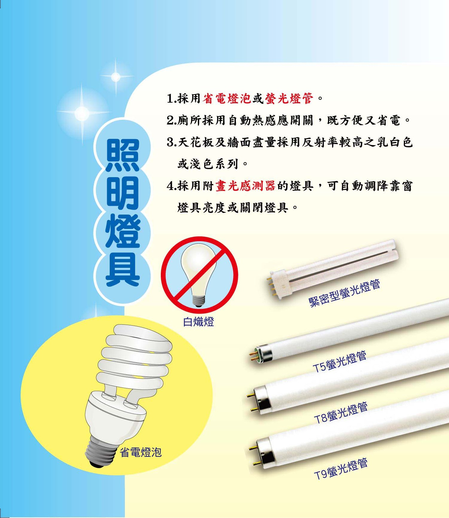 照明燈具省電方法