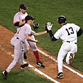 A-Rod and Bronson Arroyo Game 6 2004 ALCS