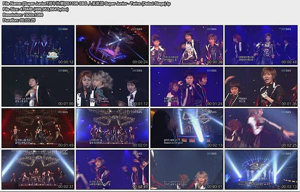 [Super Junior7周年快樂]051106 SBS 人氣歌謠 Super Junior - Twins (Debut Stage)