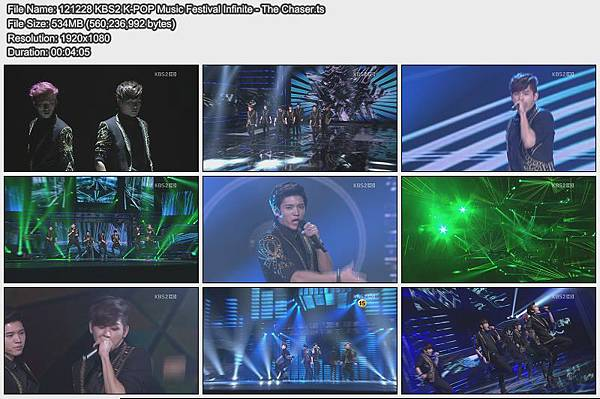 121228 KBS2 K-POP Music Festival Infinite - The Chaser