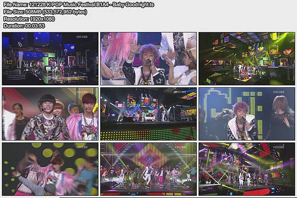 121228 K-POP Music Festival B1A4 - Baby Goodnight